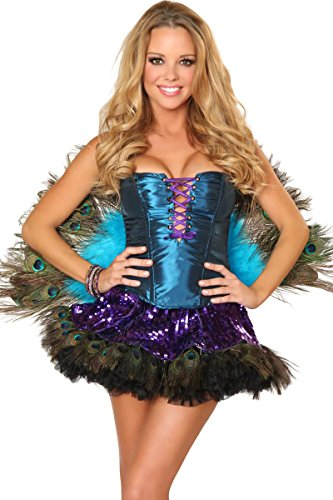 3WISHES 'Sexy Peacock Costume' Sexiest Halloween Costumes for Women