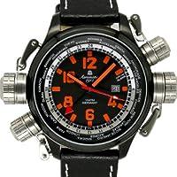 [エアロマチック1912]aeromatic1912 腕時計 ドイツ製パイロットDEFENDERワールド?ツアー GMT アラーム A1327【並行輸入品】