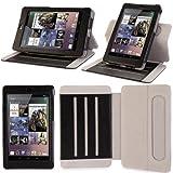 i-Blason Google Nexus 7 inch Tablet Genuine Leather Case Cover Detachable Landscape / Portrait View-Black ~ i-Blason