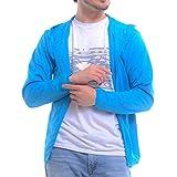 (ティーシャツドットエスティー) Tshirt.st 吸汗 速乾 ドライ メッシュ UV対策 長袖 ドライジップパーカー ラッシュガード 4.4oz ターコイズ 3L