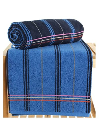 Maisonette Gary 2-Piece Bath Towel Set, Midnight As You See