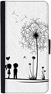 Snoogg Dandelions Child Love Graphic Snap On Hard Back Leather + Pc Flip Cove...