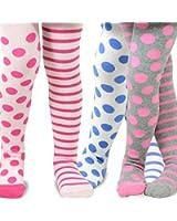 TeeHee Naartjie Kids Girls Stripes with Dots Tight