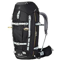 Jack Wolfskin Men\'s Mountaineer 48 Men Technical Trekking Pack, Black, Large/X-Large