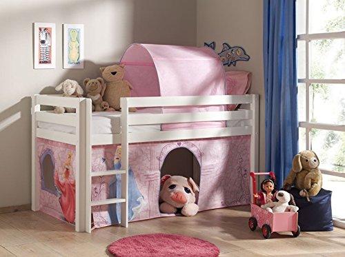 """Lit Enfant Sans Toboggan """"Pino Disney Princesse"""" Blanc"""