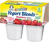 Gerber Graduates Yogurt Blends, Mixed Berry, 4-Count, 3.5-Ounce Cups (Pack of 6)