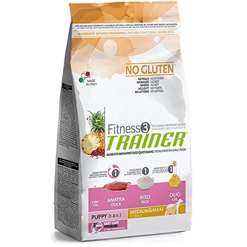 TRAINER Fitness 3 no gluten puppy medium&maxi anatra riso olio 3kg