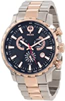 Brillier Men's 16-02 Endurer Rose Gold Chronograph Swiss Quartz Watch by Brillier