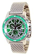 SPECIALTY GREEN DIAL QTZ CHRONO SS