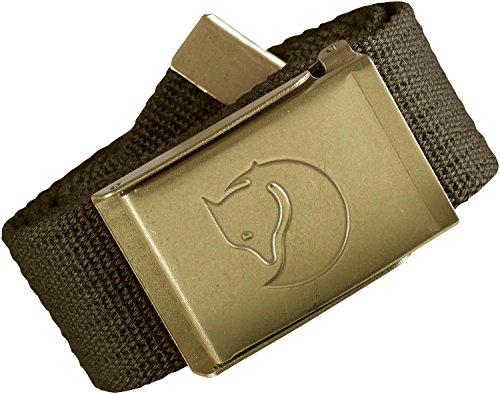 Fjällräven Herren Gürtel Canvas Brass Belt, Dark Olive, One Size, 77297-633