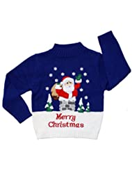 Childrens Rooftop Christmas Sweater Skedouche
