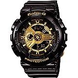[カシオ]Casio 腕時計 Baby-G BA-110-1A ビッグケースシリーズ ブラックゴールド レディース [並行輸入品]