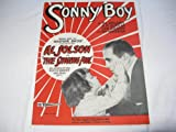 SONNY BOY AL JOLSON 1927 SHEET MUSIC SHEET MUSIC FOLDER 418