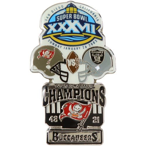 Nfl Tampa Bay Buccaneers Super Bowl Xxxvii Collectors Pin Picture