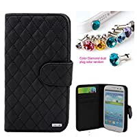 CocoZ® Samsung Galaxy S3 colorful mesh leather case PU leather wallet magnet There are card slot design ,for Samsung GalaxyS3/i9300/Galaxy SIII from by 7-14 DAYS TO USA by CocoZ