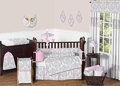 9 Piece Elizabeth Baby Girl Crib Bedding Set from Sweet Jojo Designs