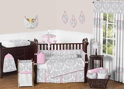 9 Piece Elizabeth Baby Girl Crib Bedding Set from Sweet Jojo Designs