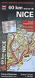 echange, troc Blay-Foldex - 60 km autour de Nice, carte routière et touristique