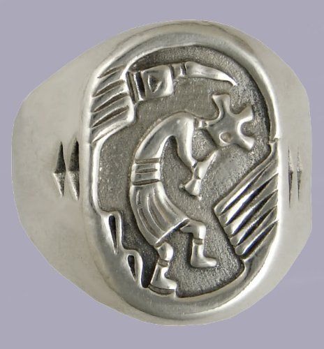 The Kokopelli in a Sterling Silver Ring...Nice Heavy Weight Piece...Made in America