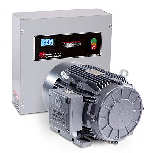 15 HP Rotary Phase Converter, CNC, TEFC, Heavy Duty