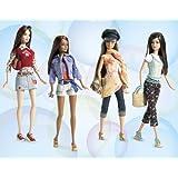 J4174 Barbie Fashion Fever PJ Collection: Purple PJ Camisole & A Light Purple Print PJ Bottoms & A W