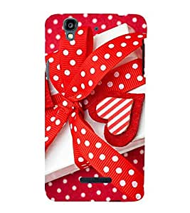VALENTINES GIFT TIED WITH A RED POLKA DOT RIBBON 3D Hard Polycarbonate Designer Back Case Cover for YU Yureka Plus::Micromax Yureka Plus