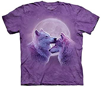 The Mountain Loving Wolves Purple T-shirt Adult Small