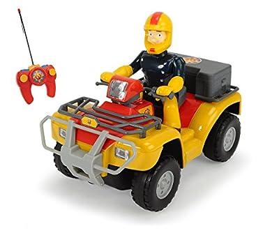 Dickie Toys 203099613 - RC Feuerwehrmann Sam Mercury, funkferngesteuertes Quad, 16 cm