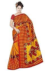 Pawan Tex Bhagalpuri sree for women's (Bhagalpurimix12_mustard yellow)