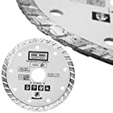 4-1/2-Inch Dry or Wet Cutting Turbo Diamond Saw Blade