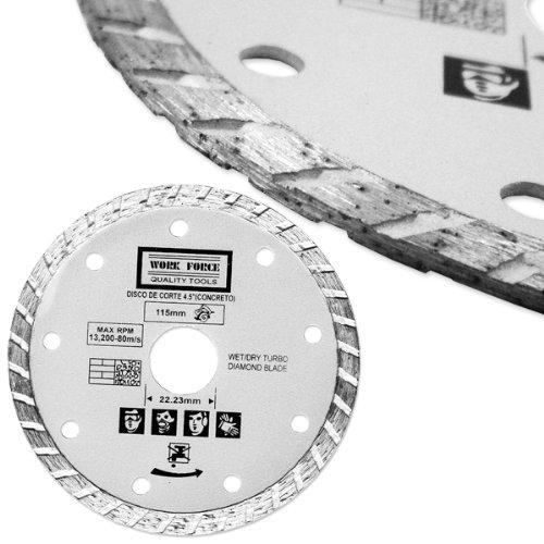 4-1/2-Inch Dry or Wet Cutting Turbo Diamond Saw Blade