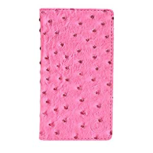 J Cover Croc Series Cover Leather Pouch Flip Case For Xiaomi Redmi 3S Prime Exotic Pink