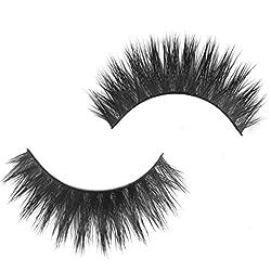 Imported 1 Pair Handmade Natural Mink Hair Thick Eye Lashes False Eyelashes D-13