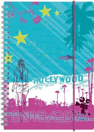 Brunnen Schülerkalender A6 - 2013/2014 Hollywood - 18 Monate Kalender 1 W/ 2 S