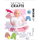McCall's Patterns M4338 Baby Doll Clothes, All Sizes