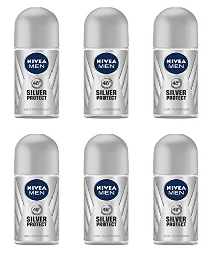 6 x NIVEA deodorante Corpo MEN SILVER PROTECT deo roll on offerta in stock uomo
