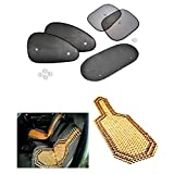 Car Auto Window Side Chipkoo Sunshade Curtains Set Of 5Pcs, Wooden Bead Seat Cover