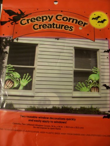 Halloween Window Decorations ~ Creepy Corner Creatures (Goblin) - 1