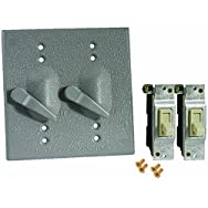 Do it Weatherproof Electrical Cover With Switches-GRAY OUTDOR COVER/SWITCH