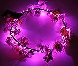 Amazon.co.jpPlusLED ライトアップ花冠(ベビーピンクのバラ) LEDライト30個付き フェス/クラブイベントなどにお勧めのヘアアクセサリー
