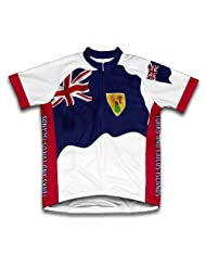 Turks And Caicos Islands Flag Short Sleeve Cycling Jersey for Women