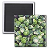 Bright Green Fresh Brussels Sprouts Fridge Magnets