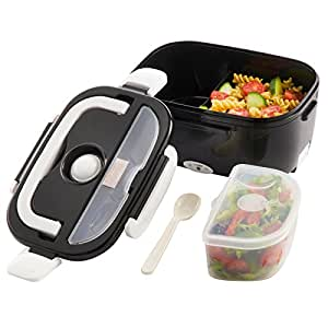 portable electric heated compact food warmer lunch box lunch b. Black Bedroom Furniture Sets. Home Design Ideas