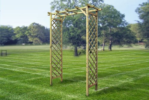NEW! SUNSET ARCH trellis arbor tall for flowers wooden