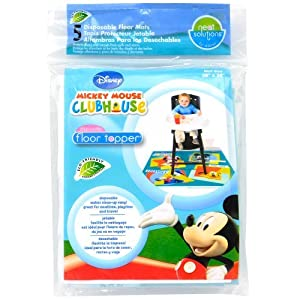 Neat Solutions Disposable Floor Topper, Mickey Mouse, 5-Count
