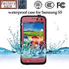 Waterproof Dustproof Snowproof Shockproof Hard Armor Protective Cover Case For Samsung Galaxy S5 (rose red)