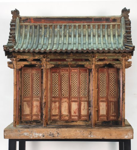 Rb1020X-Antique Chinese Traditional Family Shrine, Circa 1750-1800, Shanxi Province China, Mixed Sof
