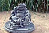 Garden ornamental Figure - Buddha, Cast stone, Slate gray