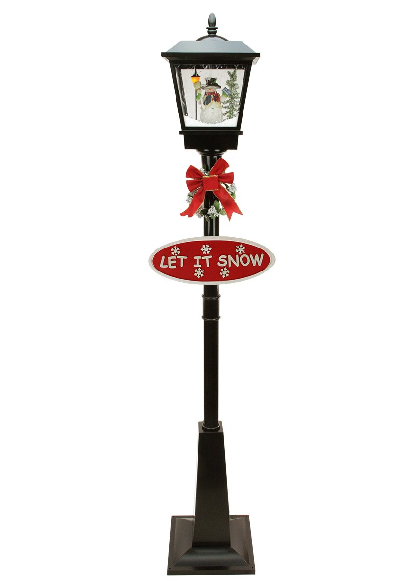Snowing christmas decoration let it snow - 70 75 Lighted Musical Snowman Vertical Snowing Christmas Street Lamp Let It Snow Bring The Magic Of Outdoors Inside And Create A Winter Wonderland In Your