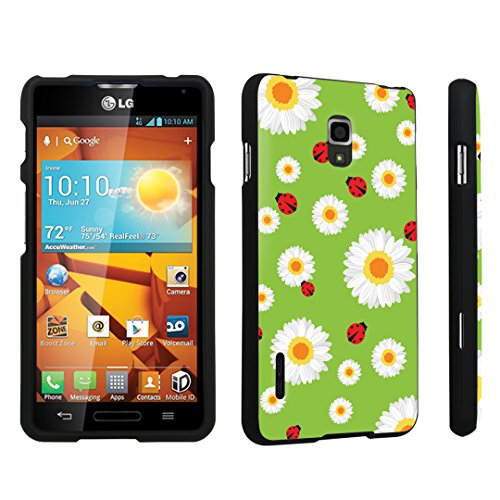 DuroCase LG Optimus F7 US780 / LG870 Hard Case Black - (Lady Bug Flower) (Lg Optimus F7 Cases compare prices)
